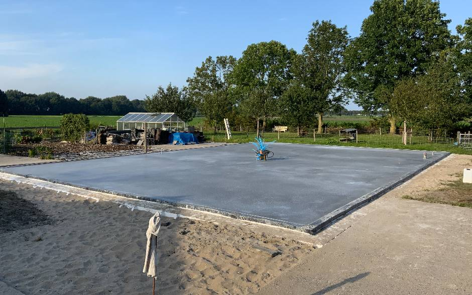 betonvloer maken bouwen hauwert